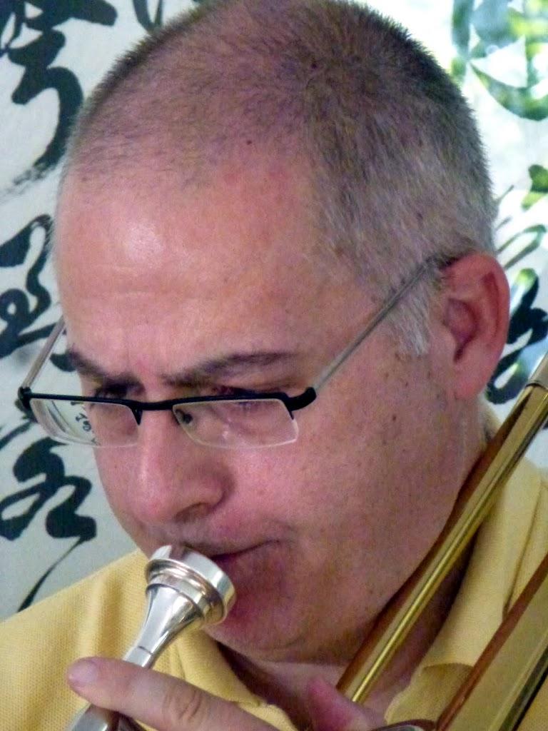Fritz on trombone