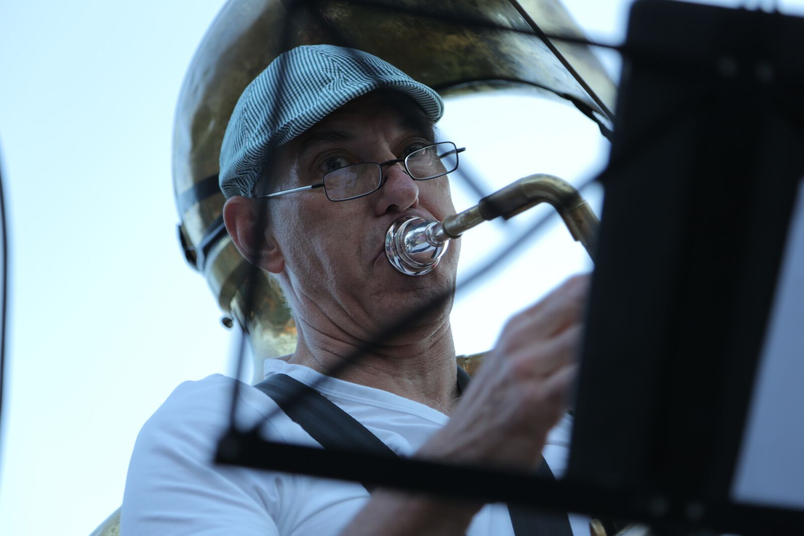 Juerg on sousaphone