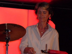 claudia on timbales