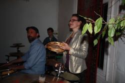 Sandra on percussion