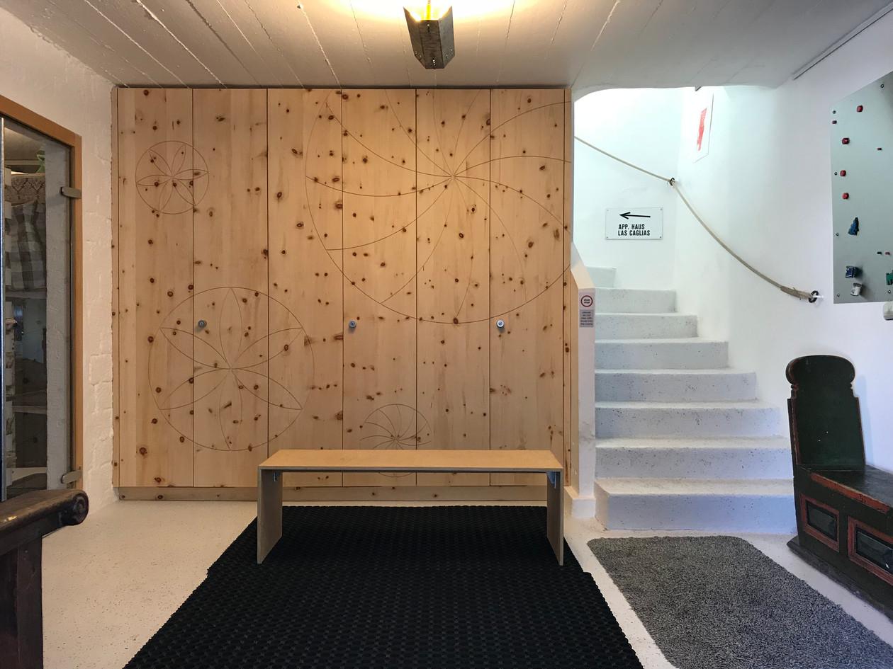 Casa Las Caglias Eingang Skiraum
