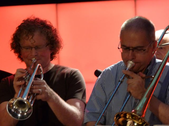 Urs + Fritz on trumpet and trombone