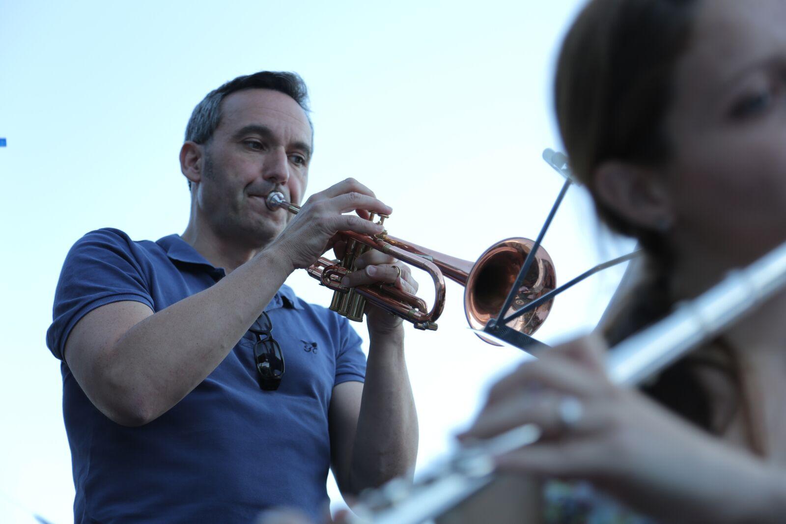 Arno on trumpet
