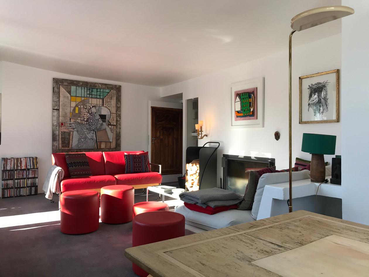 Casa Las Caglias oberes Wohnzimmer