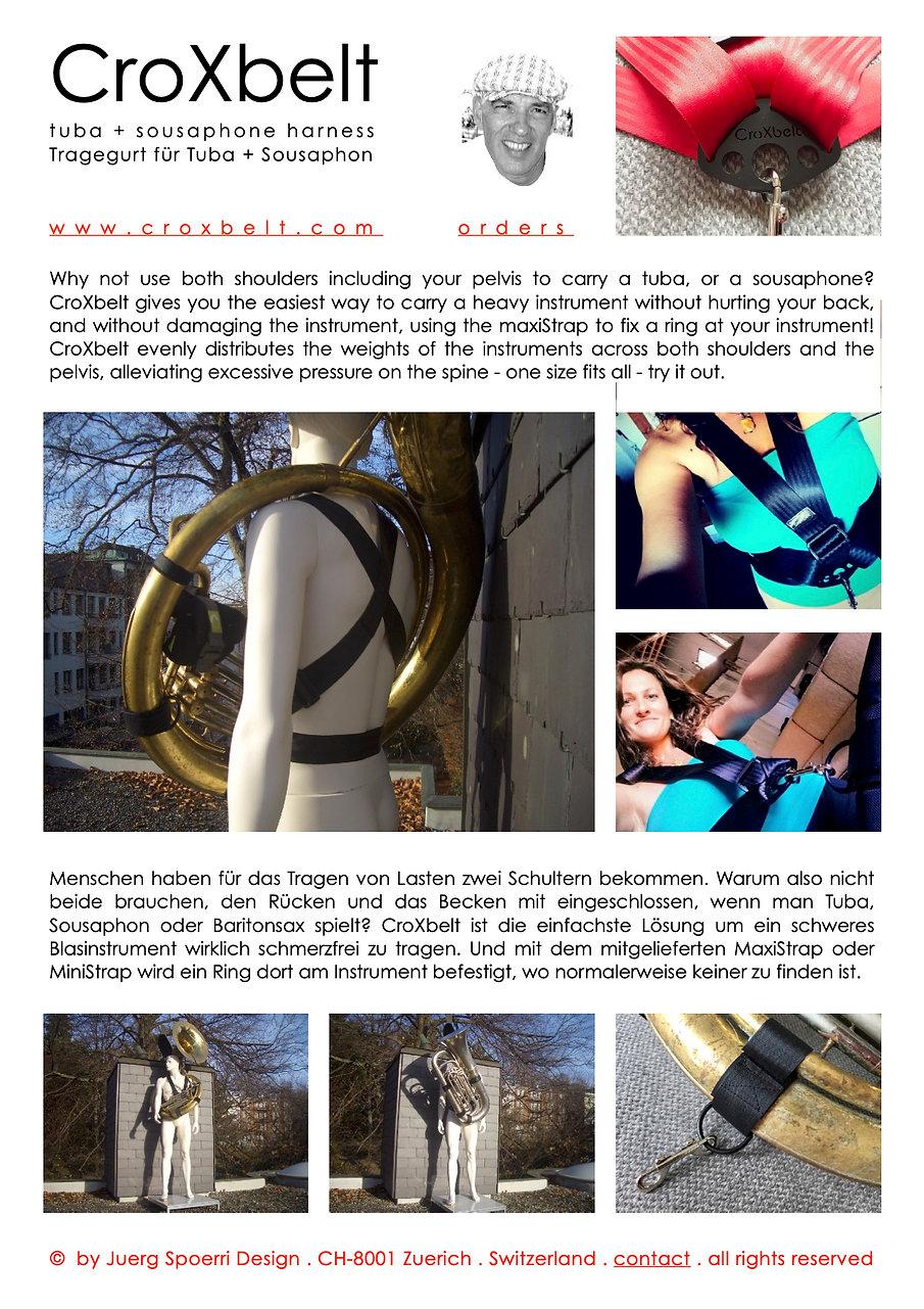 CROXBELT Tuba Sousaphone Harness Traggur