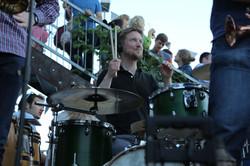 Simon on drums
