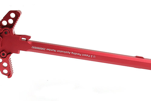 """United Defense AR-15 """"Holy"""" Ambidextrous Charging Handle - Red"""