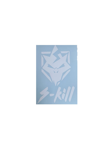 S-kill car window sticker logo
