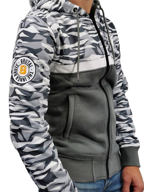 Brutal hooded zipper limitless grey