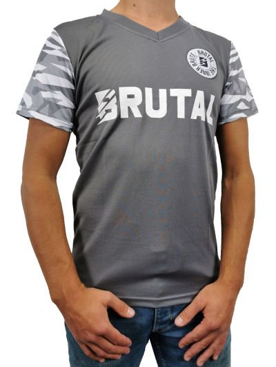 Brutal soccer shirt limitless grey