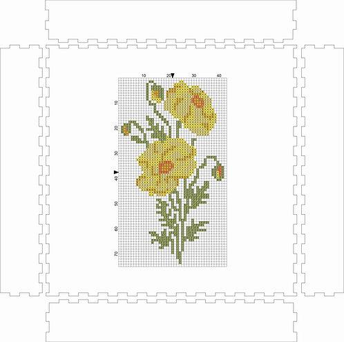 Wall Art Block - Flower Yellow