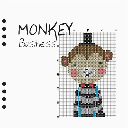 Square Line book -Monkey Business
