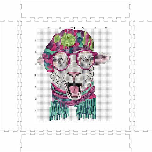 Wall Art Block - Sheep 2