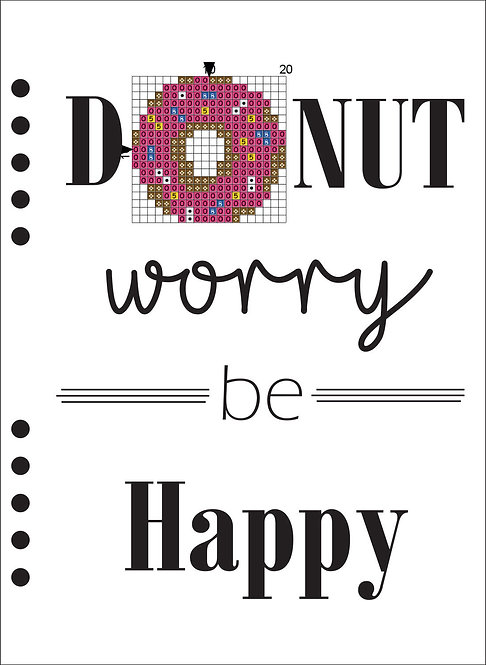 A5 Wooden Book - Donut worry