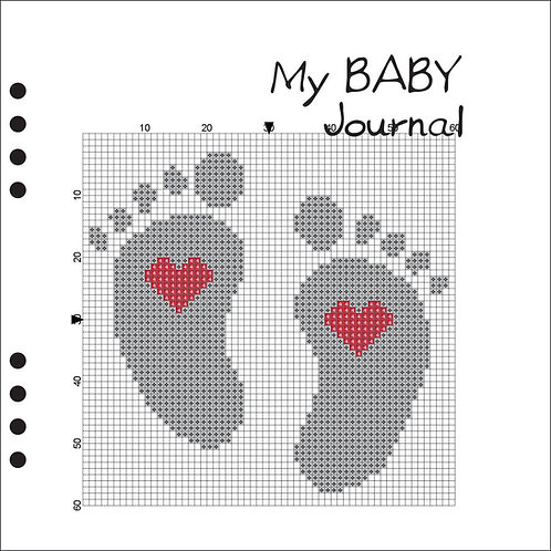 My Baby Journal Grey