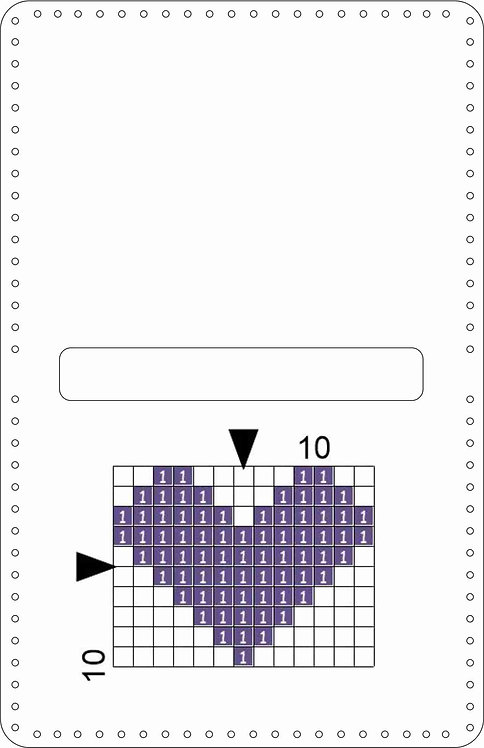 Leather Coin Purse -Heart purple