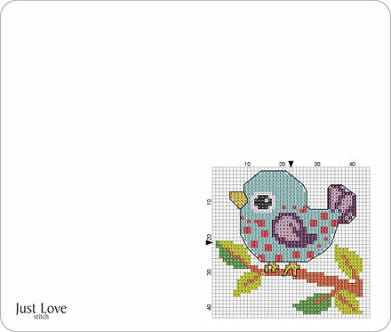 Leather Mouse pad - Bird 2