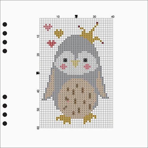 Square Line book - Owl