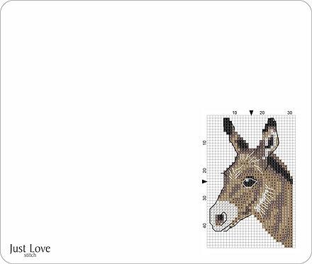 Leather Mouse pad -Donkey