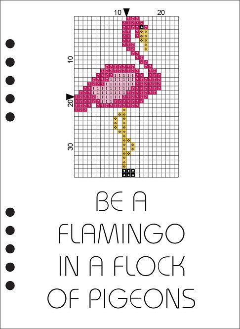 A5 Wooden Book - Be a Flamingo