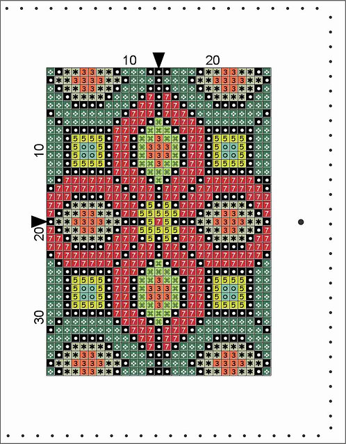 A6 Leather Cover- Quilt Block A