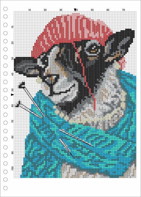 A4 Wood book -Sheep