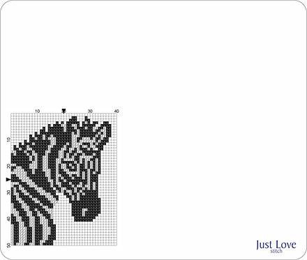 Leather Mouse pad -Zebra