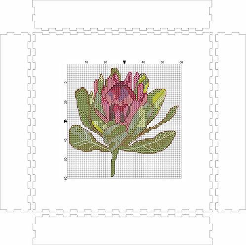 Wall Art Block -Protea