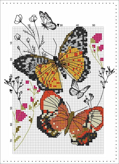 A5 Leather - Butterflies