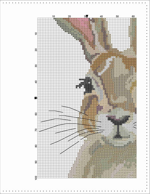 A4 Leather Notebook-Rabbit Face