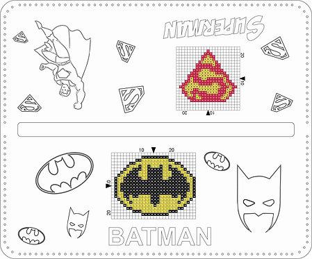 Leather Pencil Bag - Batman/ Superman