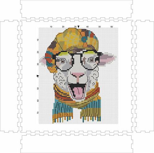 Wall Art Block - Sheep