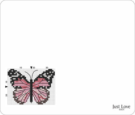 Leather Mouse pad -Butterfly 1
