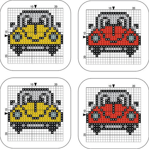 Coaster Beetle Yellow/Red