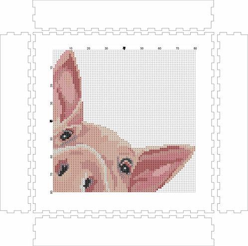 Wall Art Block - Peaking Piggy