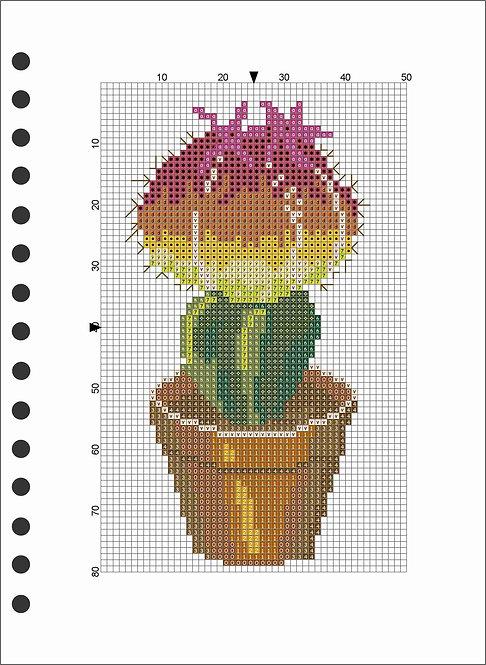 A5 Wooden Book - Cactus 3