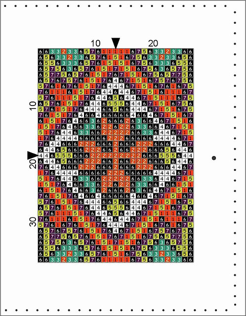 A6 Leather Cover- Quilt Block B