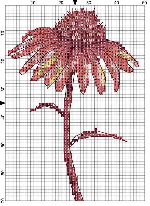 Small Wall Art Flower 03