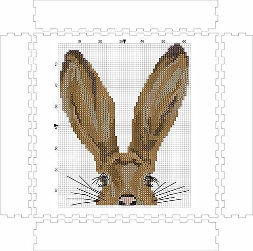Wall Art Block - Rabbit 2