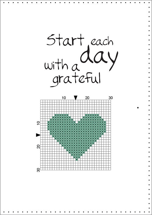 A5 Leather - Start each day with a grateful heart - Soft green