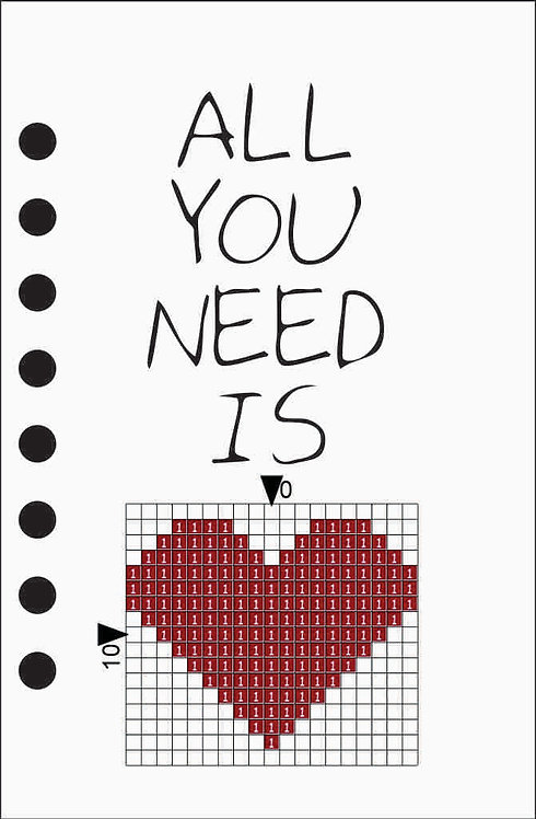 Small notebook -All you need is Red heart