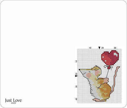Leather Mouse pad - Mouse heart