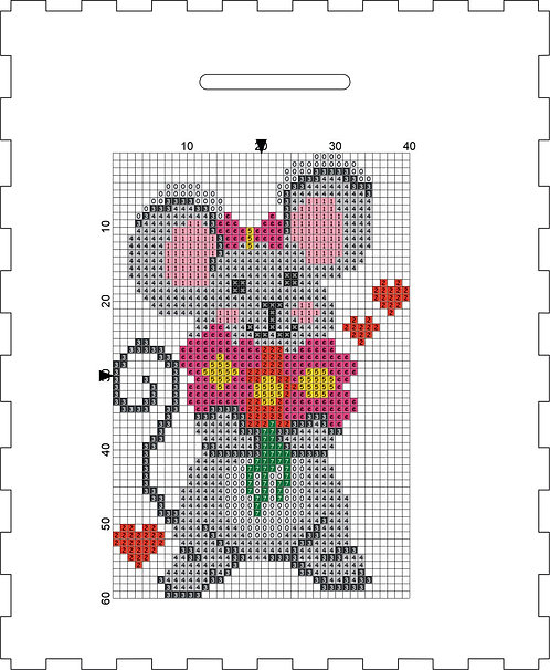 Money Box - Mouse with flowers