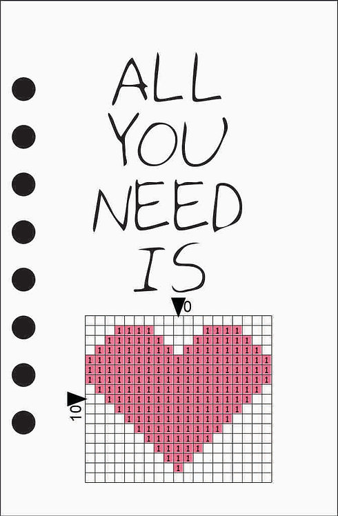 Small notebook -All you need is Pink heart