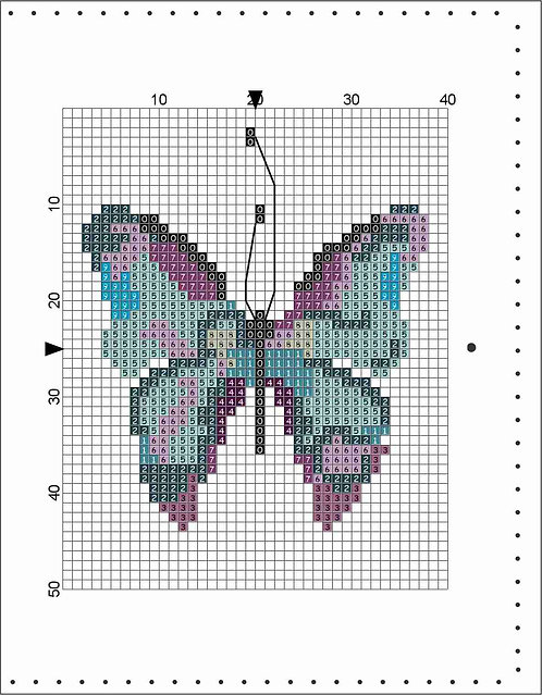 A6 Leather Cover- Butterfly Blue/Purple