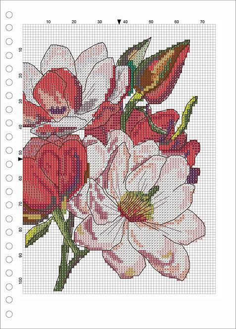 A4 Wood book -Flower 1
