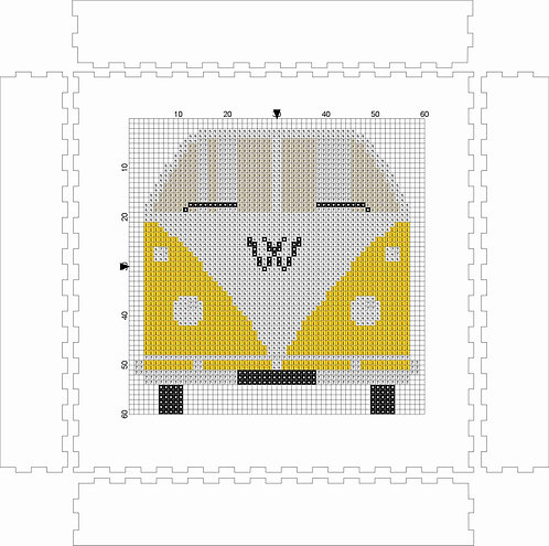 VW Bus Yellow