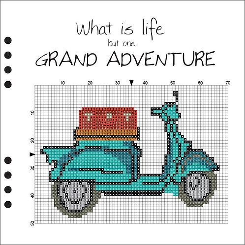Grand Adventure - Blue Scooter