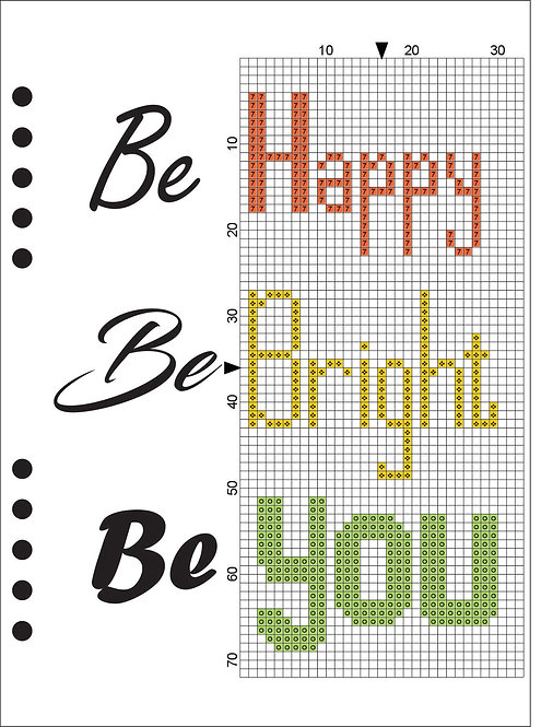 A5 Wooden Book - Be Happy, Be Bright, Be You 1