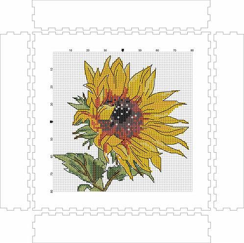 Wall Art Block - Sunflower